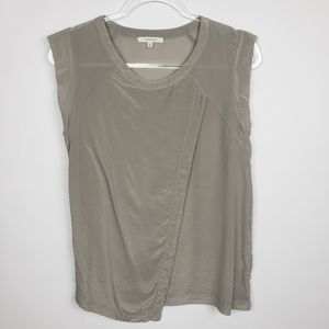 41 Hawthorn Taupe silk top